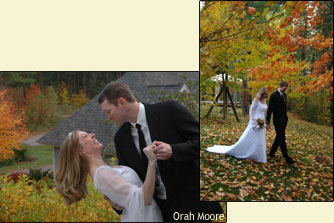 Secluded Stowe, VT Wedding Venue – Fall Weddings with Bride and Groom
