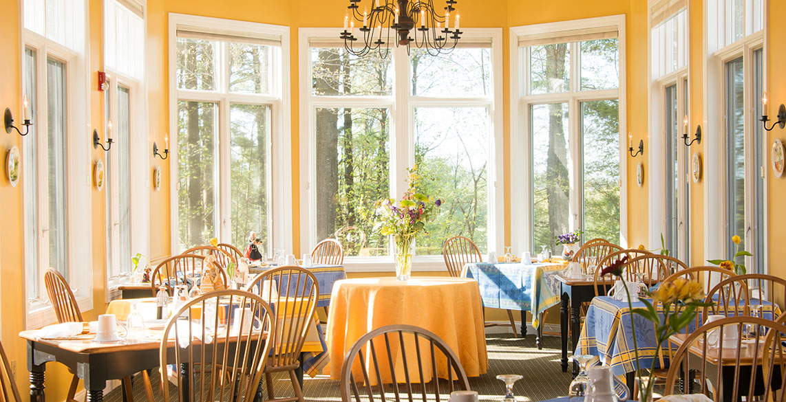 Breakfast Room at Stowe Vermont Bed and Breakfast