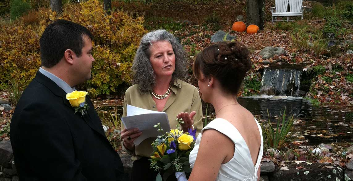 Fall wedding in Stowe Vermont