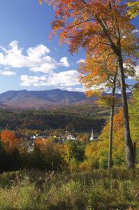 Stowe Vermont Autumn Foliage