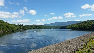 Hiking in Stowe Vermont - Waterbuy Reservoir and Dam