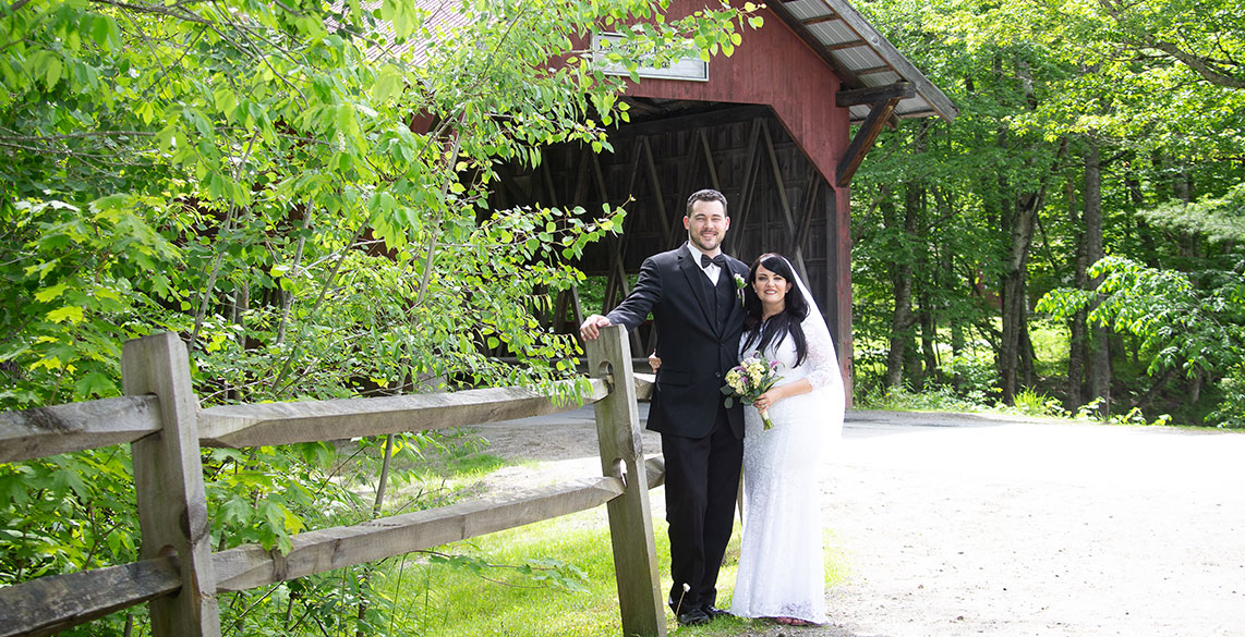 Elope to Vermont - Small Vermont Weddings - Brookdale Covered Bridge Wedding Photo