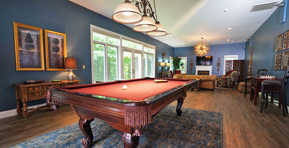 Game Room at a Stowe B&B