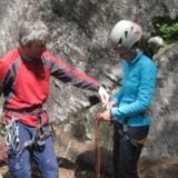 Rock climbing in Stowe, Vermont