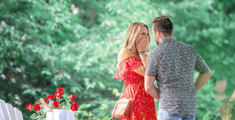 Romantic Outdoor Vermont Proposal Photo Credit: Elisabeth Viilu Photography