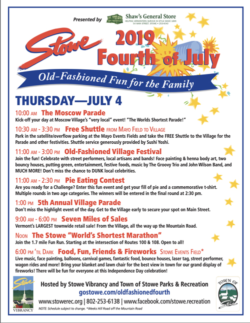 Stowe 4th of July Celebration - Vermont