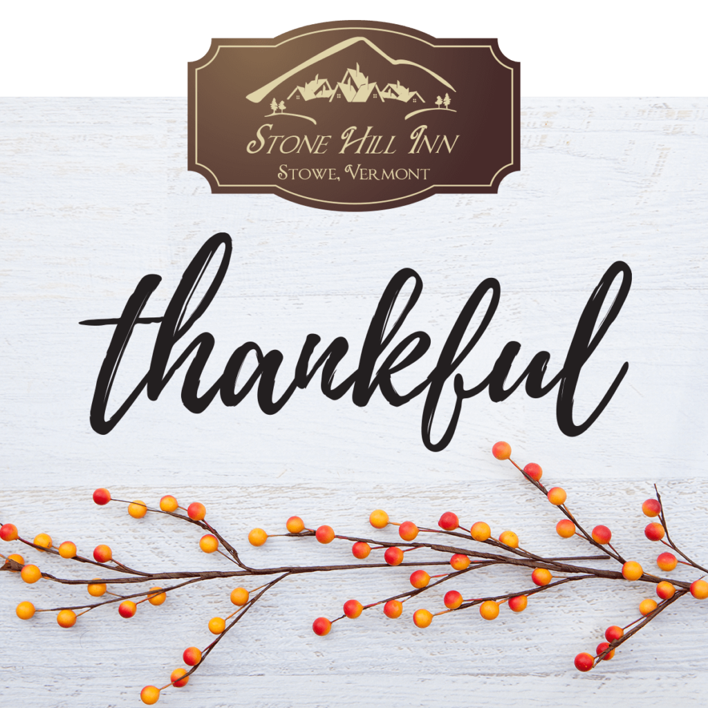 Thankful promo code for Stone Hill Inn - Save this Black Friday through Cyber Monday